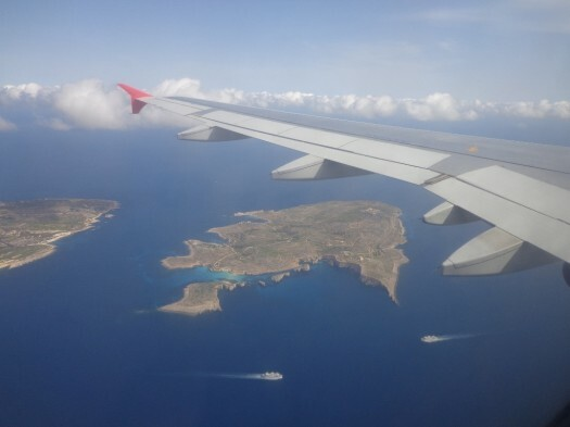 Vista aérea ilha de Comino