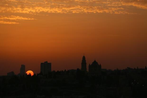 Jerusalém vista a partir do Monte das Oliveiras