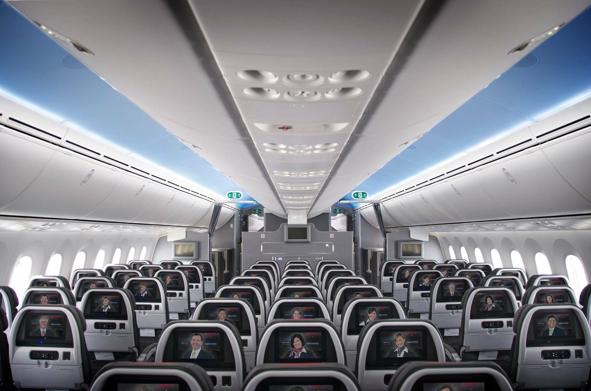Conhe 231 A A Configura 231 227 O Do Novo Boeing 787 8 Da American