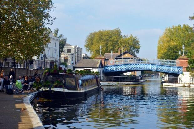 Little Venice, perto da estação de trens de Paddington