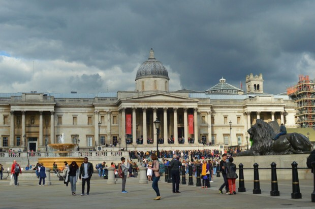 The National Gallery, na Praça Trafalgar