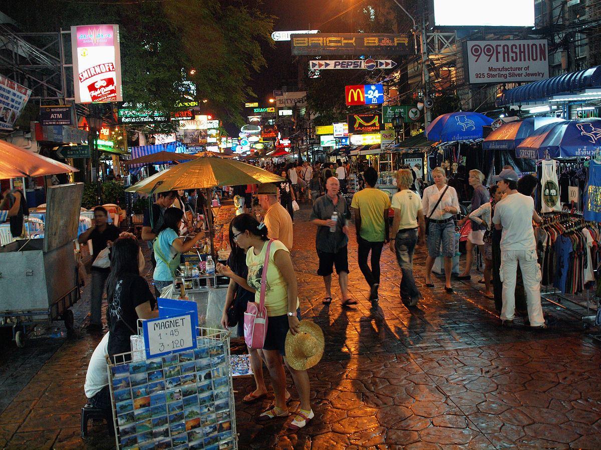 khaosan road noite bangkok