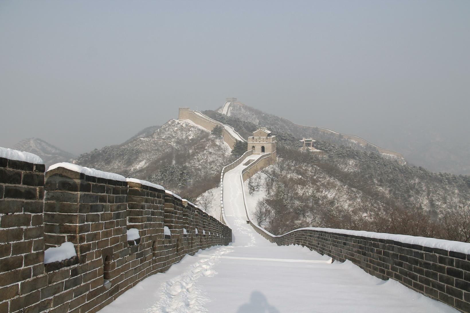 muralha china neve inverno