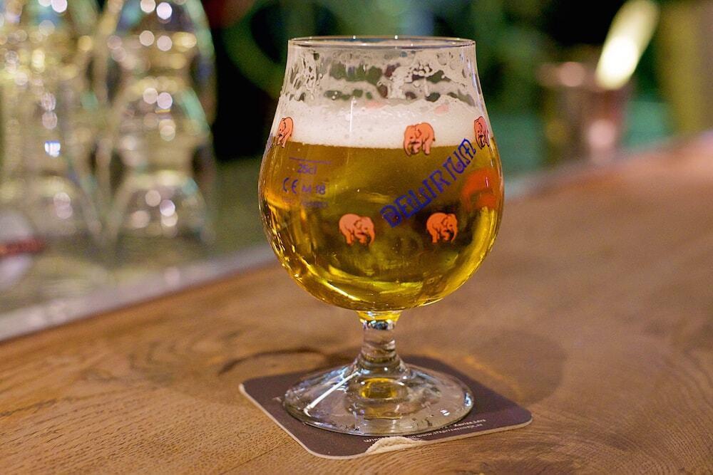 Cerveja do Café Delirium de Bruxelas