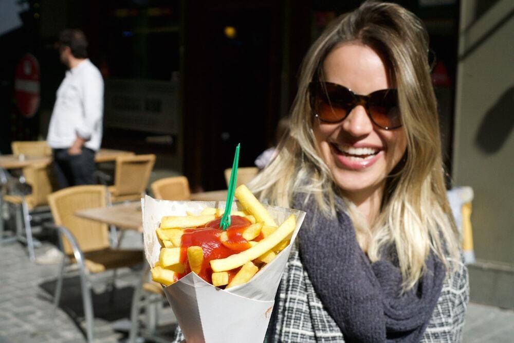 batata frita no cone Bruxelas