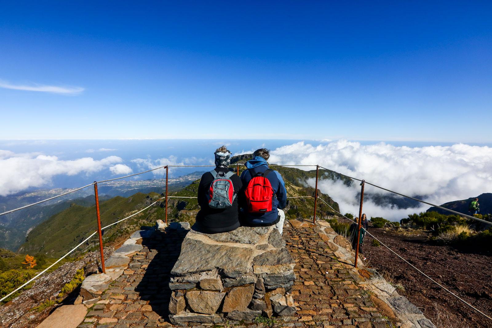 Miradouro do Pico Ruivo na Ilha da Madeira