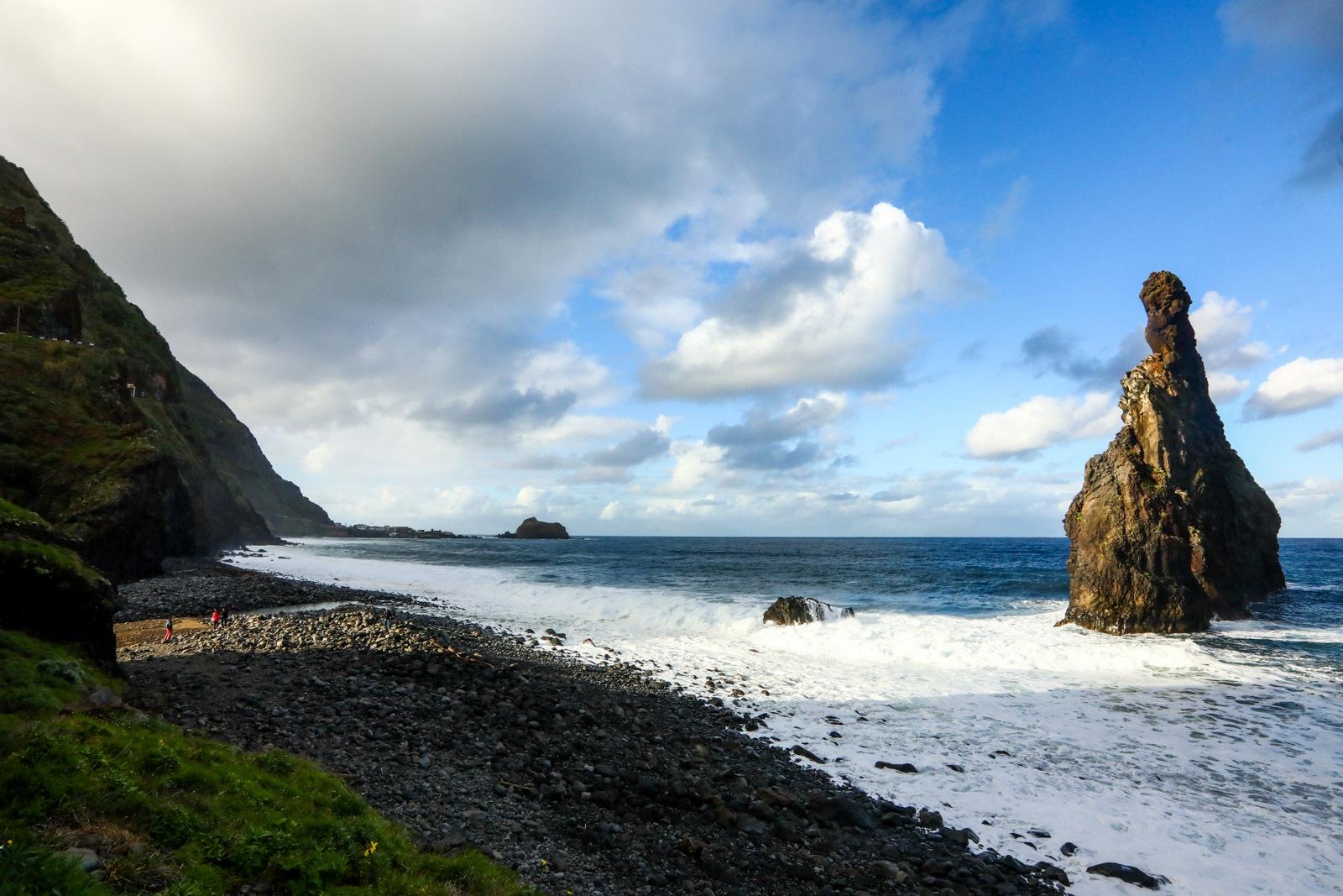 Praia da Ribeira da Janela na Ilha da Madeira