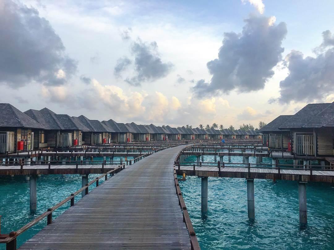 maldivas tempo nublado